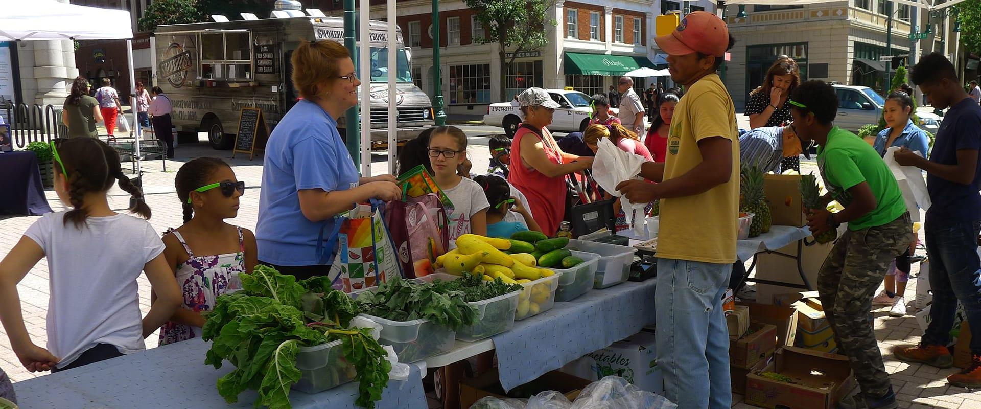 Shopping At The Penn Street Market